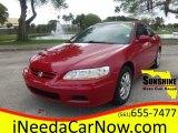 2002 San Marino Red Honda Accord EX V6 Coupe #100557301