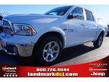 2015 Bright White Ram 1500 Laramie Crew Cab #100593048