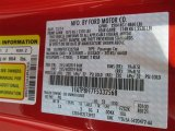 2015 Mustang Color Code for Race Red - Color Code: PQ