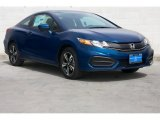 2015 Dyno Blue Pearl Honda Civic EX Coupe #100593153
