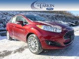 2015 Ruby Red Metallic Ford Fiesta Titanium Sedan #100612173