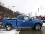 2015 Blue Flame Metallic Ford F150 XLT SuperCab 4x4 #100618755