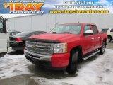 2010 Victory Red Chevrolet Silverado 1500 LS Crew Cab 4x4 #100618731