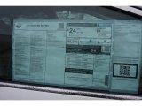 2015 Nissan Murano SL AWD Window Sticker