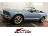 2006 Windveil Blue Metallic Ford Mustang V6 Premium Convertible #100636541