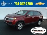 2011 Spicy Red Kia Sorento LX AWD #100637017