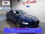 2015 Deep Impact Blue Metallic Ford Mustang GT Coupe #100672334