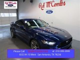 2015 Deep Impact Blue Metallic Ford Mustang EcoBoost Premium Coupe #100672333