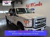 2015 White Platinum Ford F250 Super Duty Lariat Crew Cab 4x4 #100672332