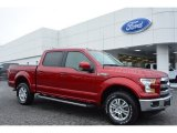 2015 Ruby Red Metallic Ford F150 Lariat SuperCrew 4x4 #100672461