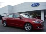2015 Ruby Red Metallic Ford Fusion Hybrid Titanium #100672458