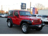2011 Flame Red Jeep Wrangler Sport 4x4 #100715025