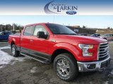 2015 Race Red Ford F150 XLT SuperCrew 4x4 #100751231