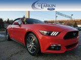 2015 Competition Orange Ford Mustang EcoBoost Premium Convertible #100751227