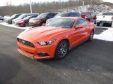 2015 Competition Orange Ford Mustang EcoBoost Premium Coupe #100791900