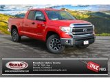 Radiant Red Toyota Tundra in 2015