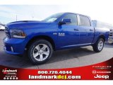 2015 Blue Streak Pearl Ram 1500 Sport Crew Cab 4x4 #100792014
