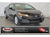 2015 Crystal Black Pearl Honda Civic LX Coupe #100889250