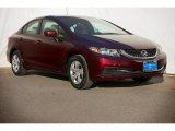 2015 Crimson Pearl Honda Civic LX Sedan #100922248