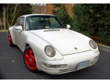 Grand Prix White Porsche 911 in 1995