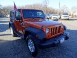 2011 Mango Tango Pearl Jeep Wrangler Sport 4x4 #100957302
