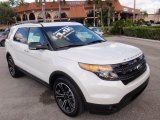 2014 White Platinum Ford Explorer Sport 4WD #100957095