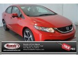 2015 Crimson Pearl Honda Civic Si Sedan #100956982