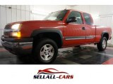 Sport Red Metallic Chevrolet Silverado 1500 in 2005