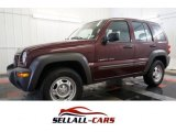 2002 Dark Garnet Red Pearlcoat Jeep Liberty Sport 4x4 #101060350
