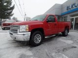 2013 Victory Red Chevrolet Silverado 1500 Work Truck Regular Cab 4x4 #101090430