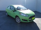 2014 Green Envy Ford Fiesta Titanium Sedan #101090568