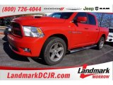 2012 Flame Red Dodge Ram 1500 Sport Crew Cab #101127847