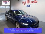 2015 Deep Impact Blue Metallic Ford Mustang GT Premium Coupe #101187273