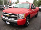 2008 Victory Red Chevrolet Silverado 1500 LS Regular Cab #10098564