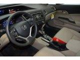 2015 Honda Civic LX Sedan Beige Interior