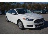 2013 Oxford White Ford Fusion S #101211835
