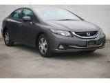 2015 Modern Steel Metallic Honda Civic Hybrid Sedan #101211758