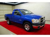 2008 Electric Blue Pearl Dodge Ram 1500 SXT Regular Cab #10098338