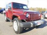 2010 Red Rock Crystal Pearl Jeep Wrangler Sahara 4x4 #101211545