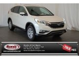 2015 White Diamond Pearl Honda CR-V EX AWD #101243995