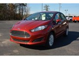 2015 Ruby Red Metallic Ford Fiesta SE Sedan #101287109