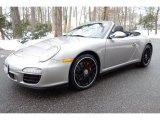 2012 Platinum Silver Metallic Porsche 911 Carrera 4 GTS Cabriolet #101322488