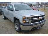 2015 Silver Ice Metallic Chevrolet Silverado 1500 WT Double Cab 4x4 #101323222
