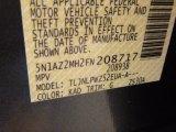 2015 Murano Color Code for Gun Metallic - Color Code: KAD