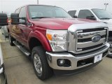 2015 Ruby Red Ford F250 Super Duty XLT Crew Cab 4x4 #101322558