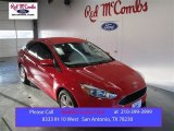 2015 Race Red Ford Focus SE Sedan #101322522