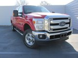 2015 Vermillion Red Ford F250 Super Duty XLT Crew Cab 4x4 #101322852