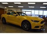 2015 Triple Yellow Tricoat Ford Mustang GT Premium Coupe #101405228