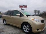 2012 Sandy Beach Metallic Toyota Sienna LE #101405484