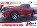 2015 Flame Red Ram 1500 Sport Quad Cab 4x4 #101405221